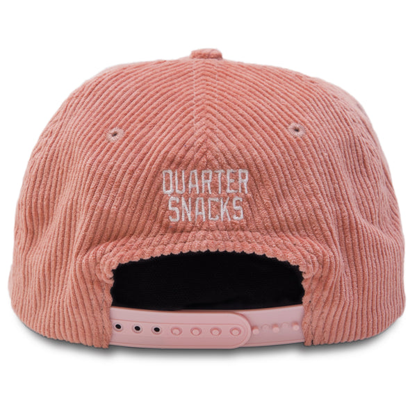 "QUARTERSNACKS  - Sky's The Limit Cap ""Pink Cord"""