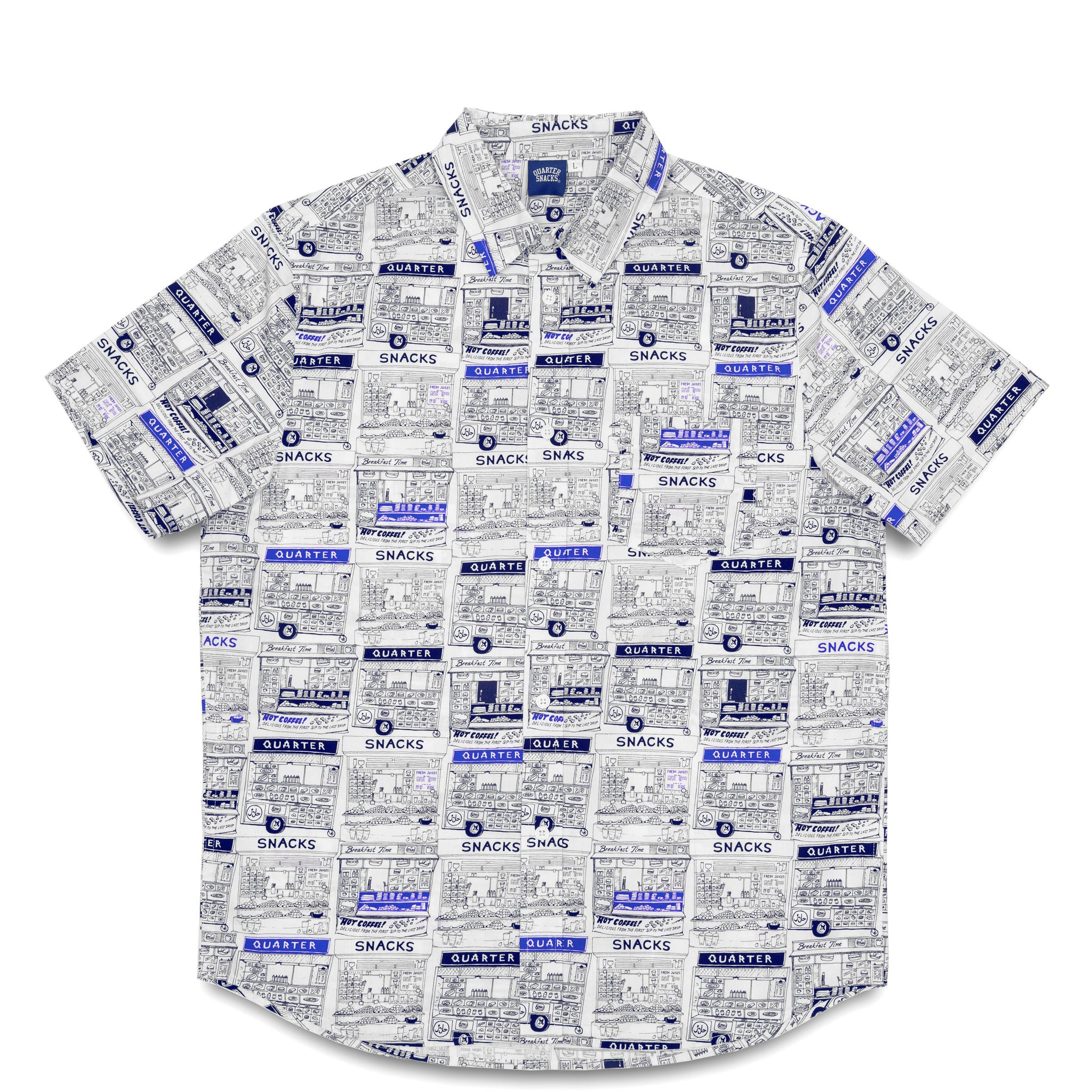 "QUARTERSNACKS  - Vendor S/S Button Up ""White"""