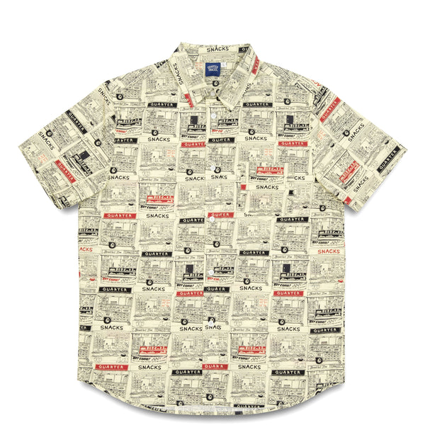 "QUARTERSNACKS  - Vendor S/S Button Up ""Butter"""