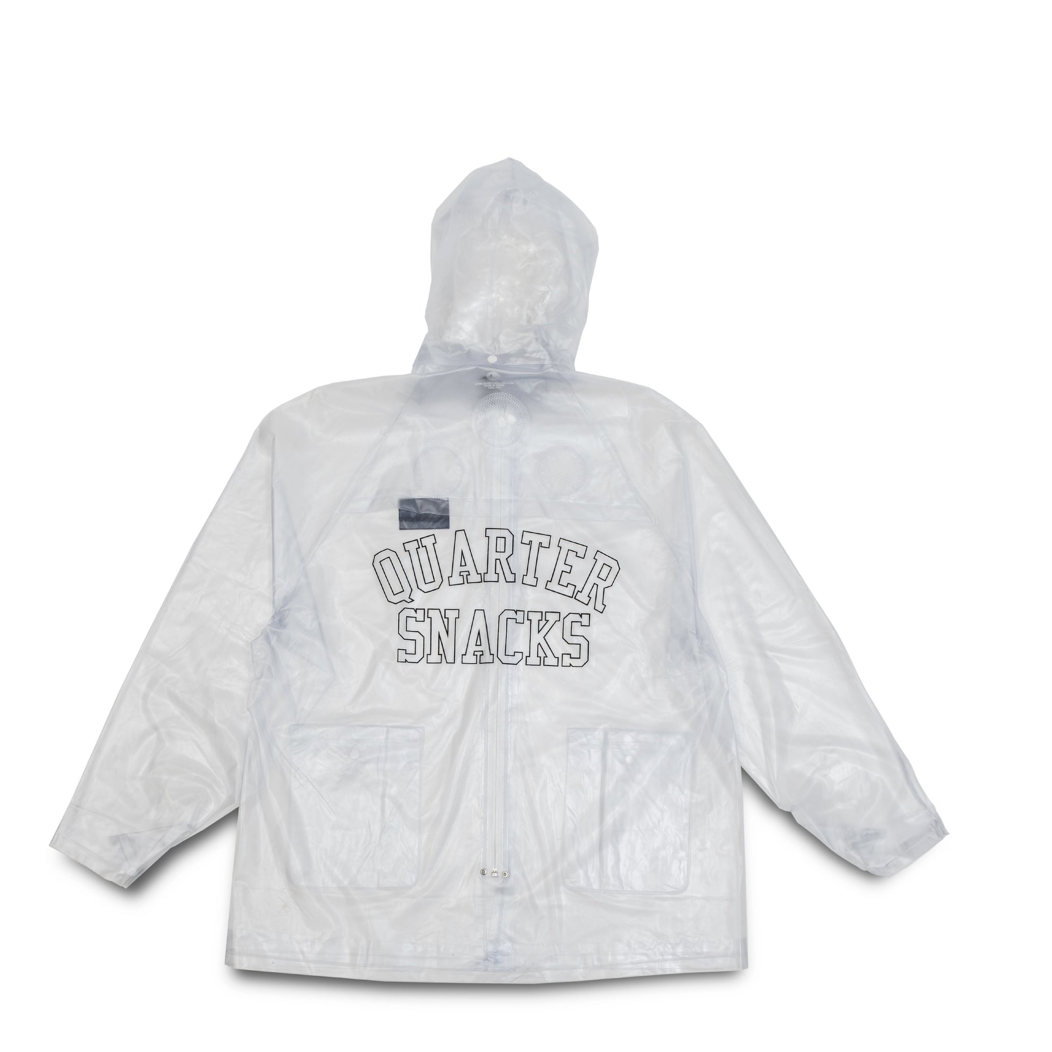 "QUARTERSNACKS  - Invisible Raincoat ""Clear PVC"""