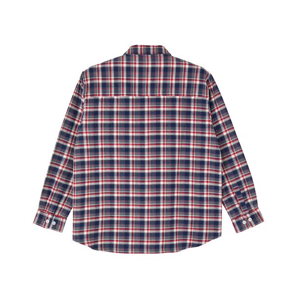 "POLAR - Flannel Shirt ""Navy/Red"""