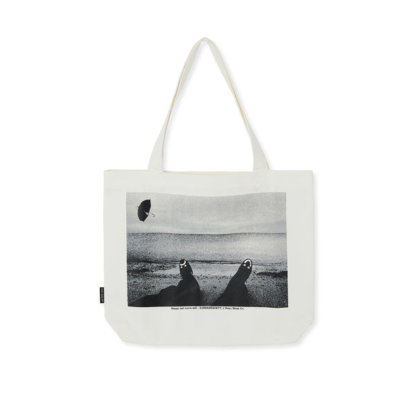 "POLAR - Happy Sad Tote Bag ""Ecru"""