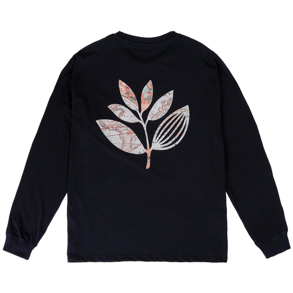 "MAGENTA SKATEBOARDS - Plant Map L/S Tee ""Black"""