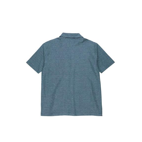 POLAR - Patterened Shirt - Stripe Navy/Green