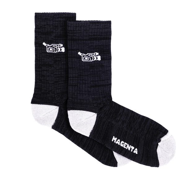 "MAGENTA SKATEBOARDS - VX SOCKS ""Black / Ash"""