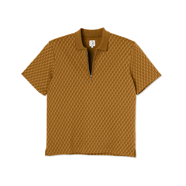 "POLAR - Zip Pique Shirt ""Golden Brown"""