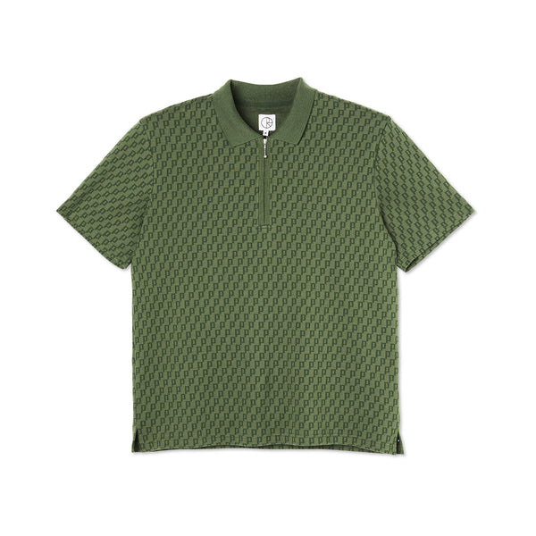 "POLAR - Zip Pique Shirt ""Hunter Green """