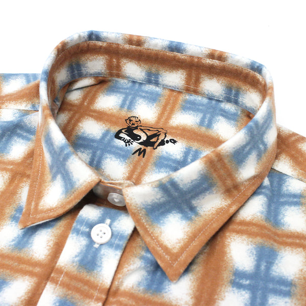 "DANCER - Flannel Shirt ""Light Brown"""