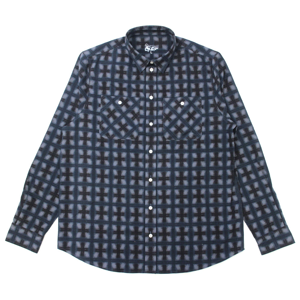 "DANCER - Flannel Shirt ""Dark Navy"""