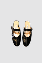 Load image into Gallery viewer, Black Patent Mary Jane Slides
