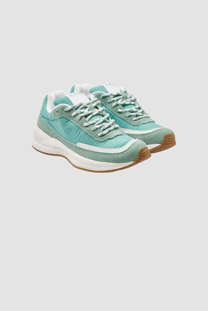 Teal Nylon Trainers