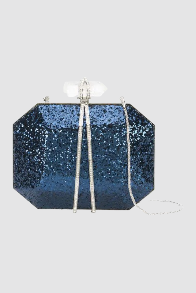 Swarvorski Crystal w/ Quartz clasp Evening Bag