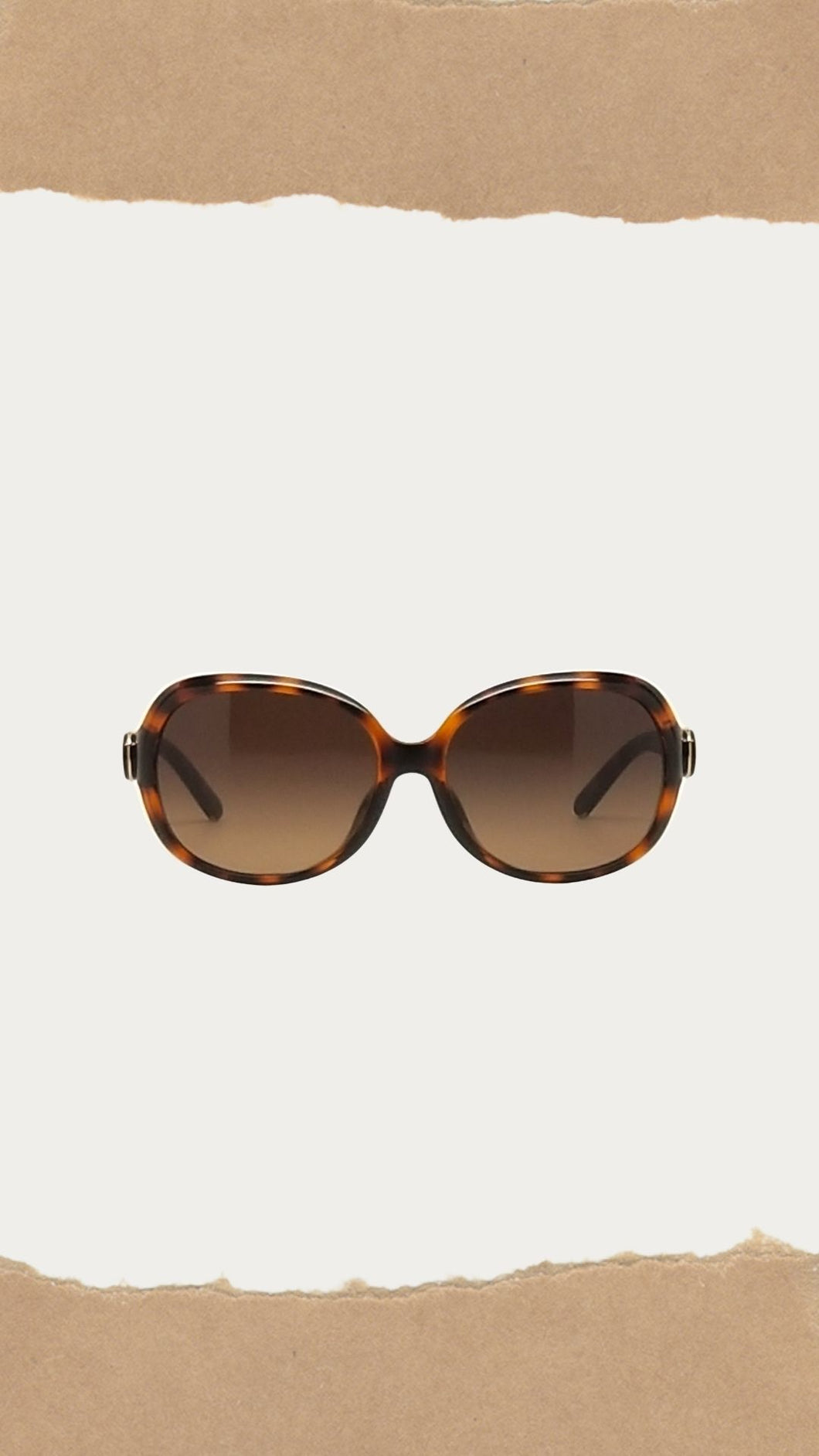 Brown Tortoise Print Sunglasses