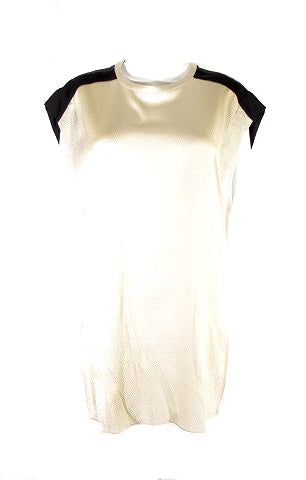 HELMUT LANG ivory white and black top