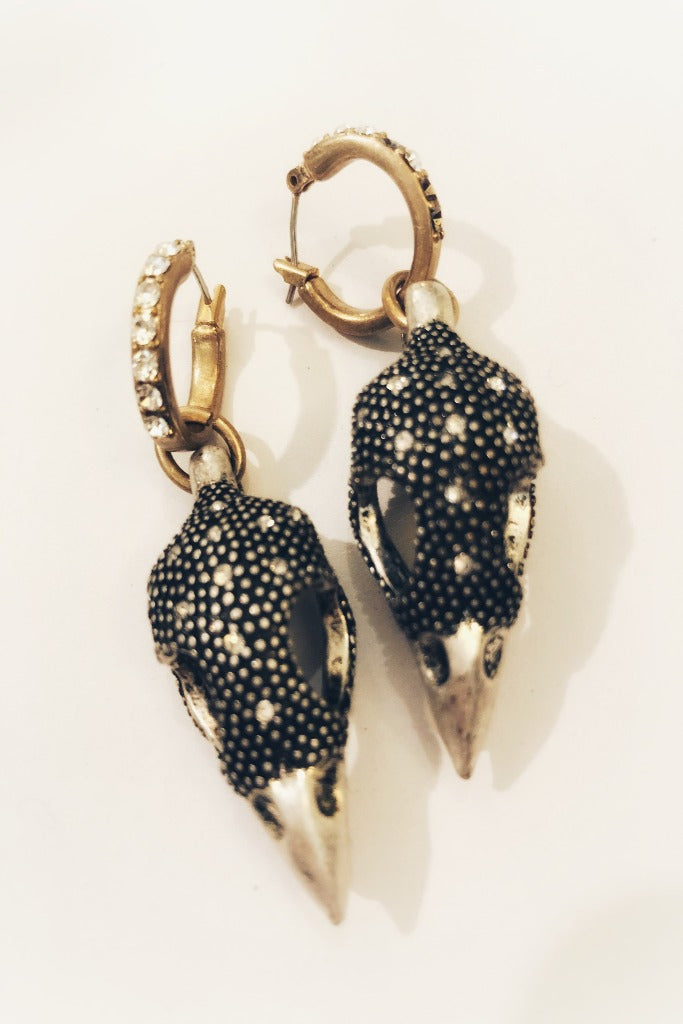 Raven Skull Earrings