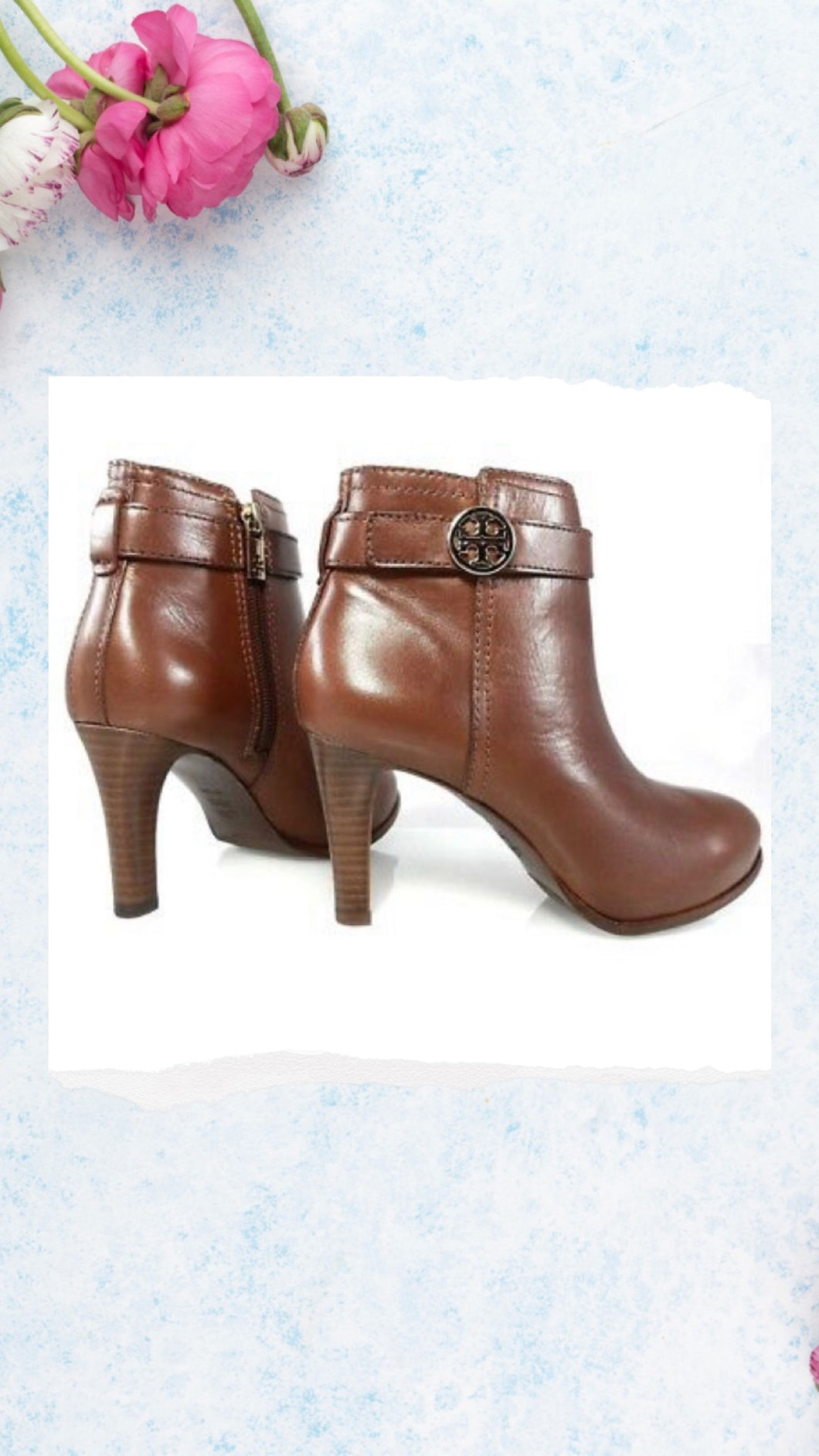Tory Burch Bristol Brown Leather Ankle Boot