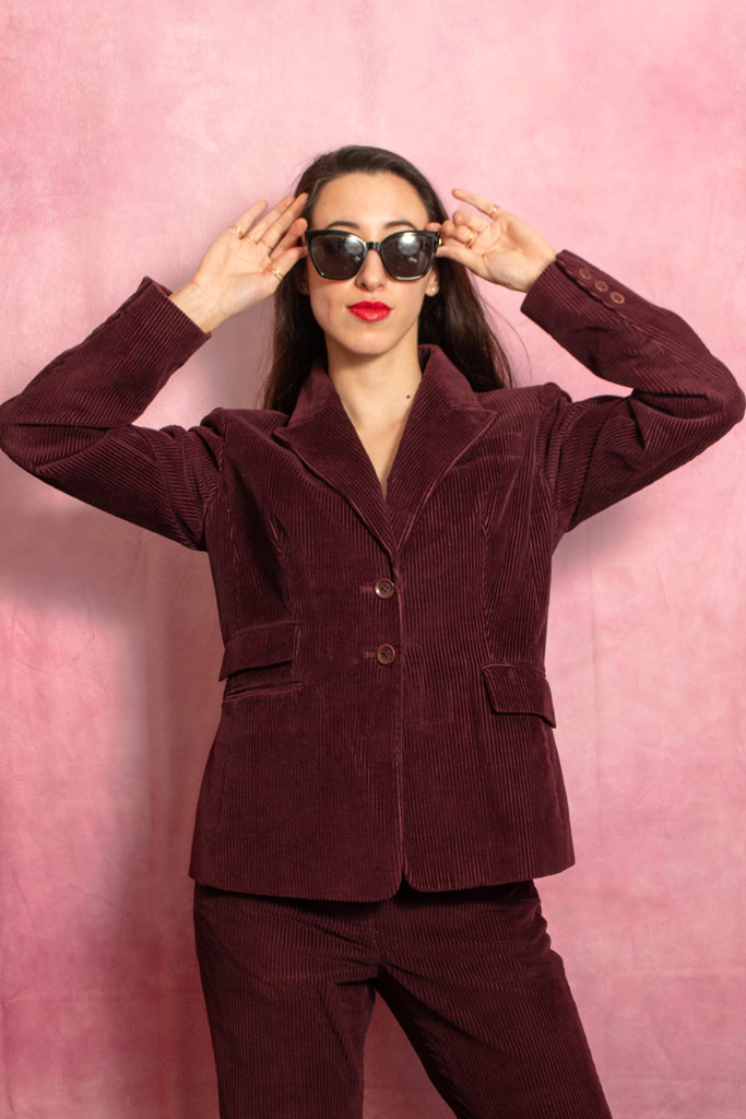 Burgundy Corduroy Suit