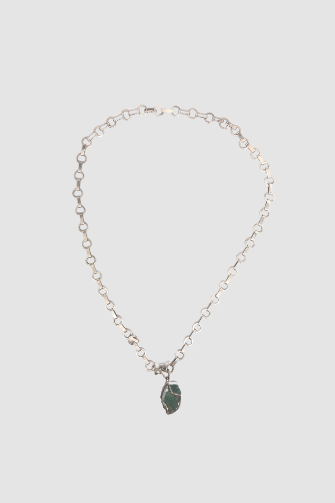 Vintage Silver Chain Turquoise Stone Necklace