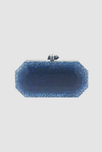 Load image into Gallery viewer, Blue Lucite Swarvorski Crystal Evening Case