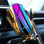 IFLG - LE Automatic Wireless Phone Holder Charger for Car Gold