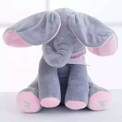 Simply Gadgets Outlet Baby Peek A Boo Animated Singing Elephant