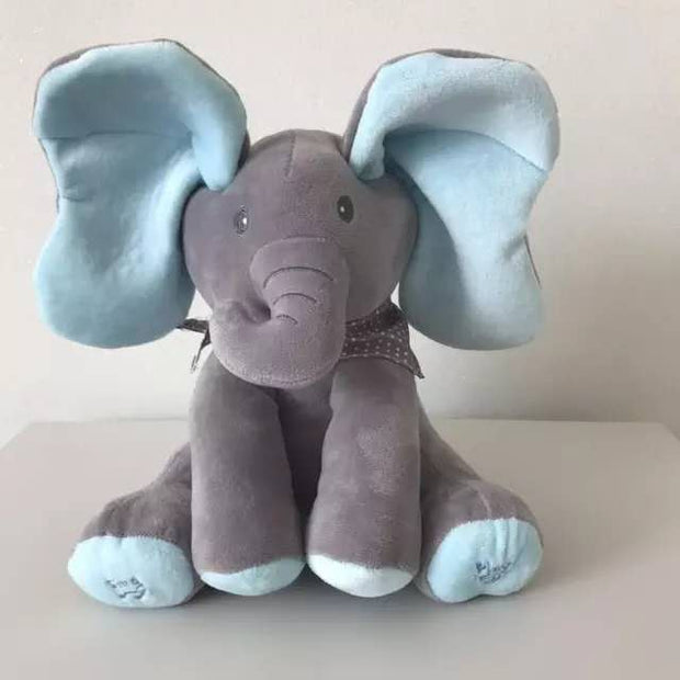 Simply Gadgets Outlet Baby Peek A Boo Animated Singing Elephant - Set of 2 Blue / Gray