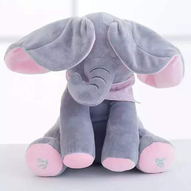 Simply Gadgets Outlet Baby Peek A Boo Animated Singing Elephant - Set of 2 Pink / Blue