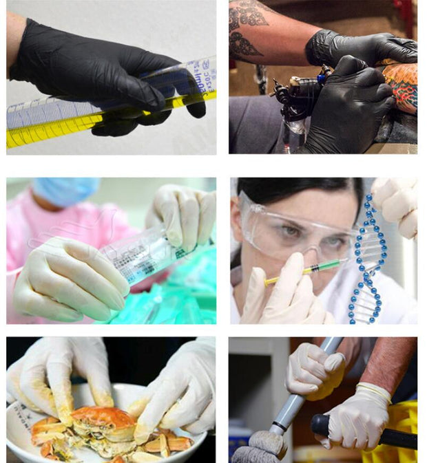 Simply Gadgets Black Disposable Latex Gloves Others