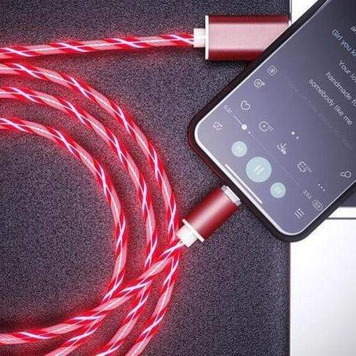 IFLG - LE iGlow™ 3 in 1 LED Magnetic Charger Red