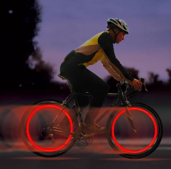 IFLGADGETS-ST Motion Activated LED Wheel Lights (2 Pack) Electronics Red
