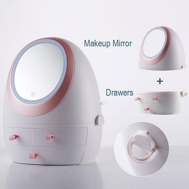 Simply Gadgets Portable Makeup Case With LED Mirror Beauty and Fashion
