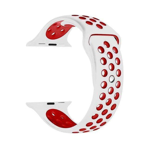 IFLGadgets Store Smart Watch Silicone Strap Electronics 27 White red / for 38mm Watch ML