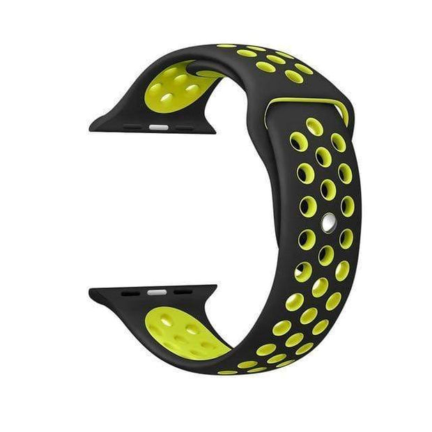 IFLGadgets Store Smart Watch Silicone Strap Electronics 8 Black yellow / for 38mm Watch ML