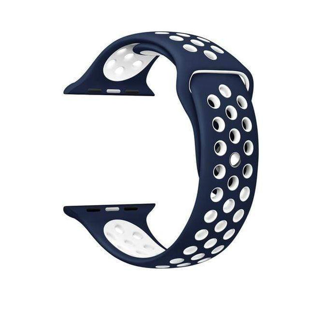 IFLGadgets Store Smart Watch Silicone Strap Electronics 9Midnight blue white / for 38mm Watch ML