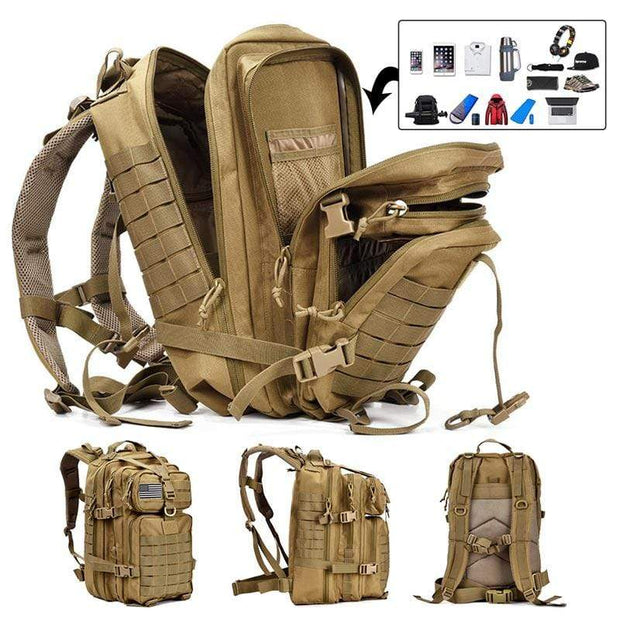 Simply Gadgets Tactical Backpack Sports and Outdoors Khaki