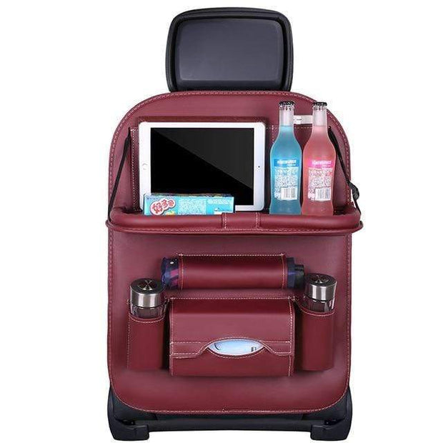 IFLGadgets Store Ultimate Car Backseat Organizer Wine red