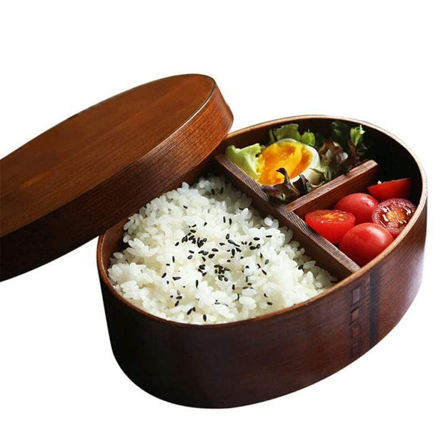 Simply Gadgets Wooden Lunch Box Japanese Bento Lunchbox Kitchen
