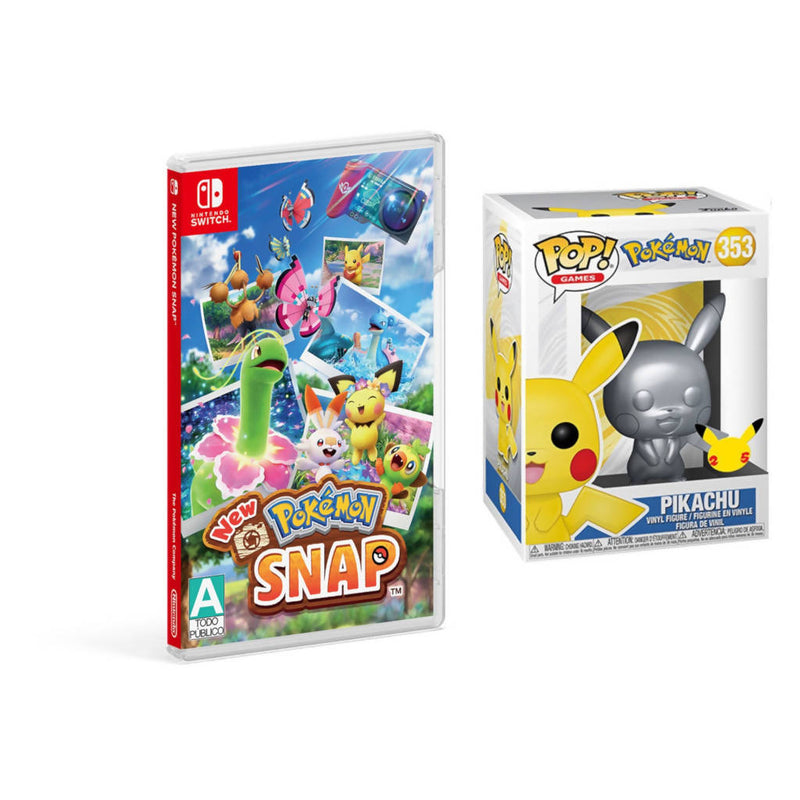 New Pokemon Snap Para Nintendo Switch + Funko Pop! Pikachu Special Edition