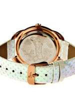 Boum Forte Crystal-Bezel Leather-Band Ladies Watch - Rose Gold/White
