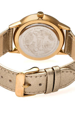 Boum Dimanche Leather-Strap Watch - Gold