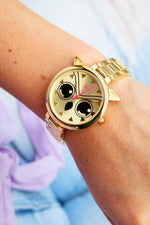 Boum Sagesse Owl-Accented Bracelet Watch - Gold
