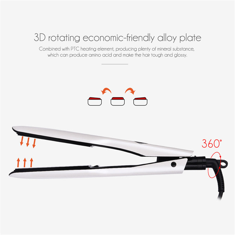 Professional Wide Plates Hair Straightener Curler