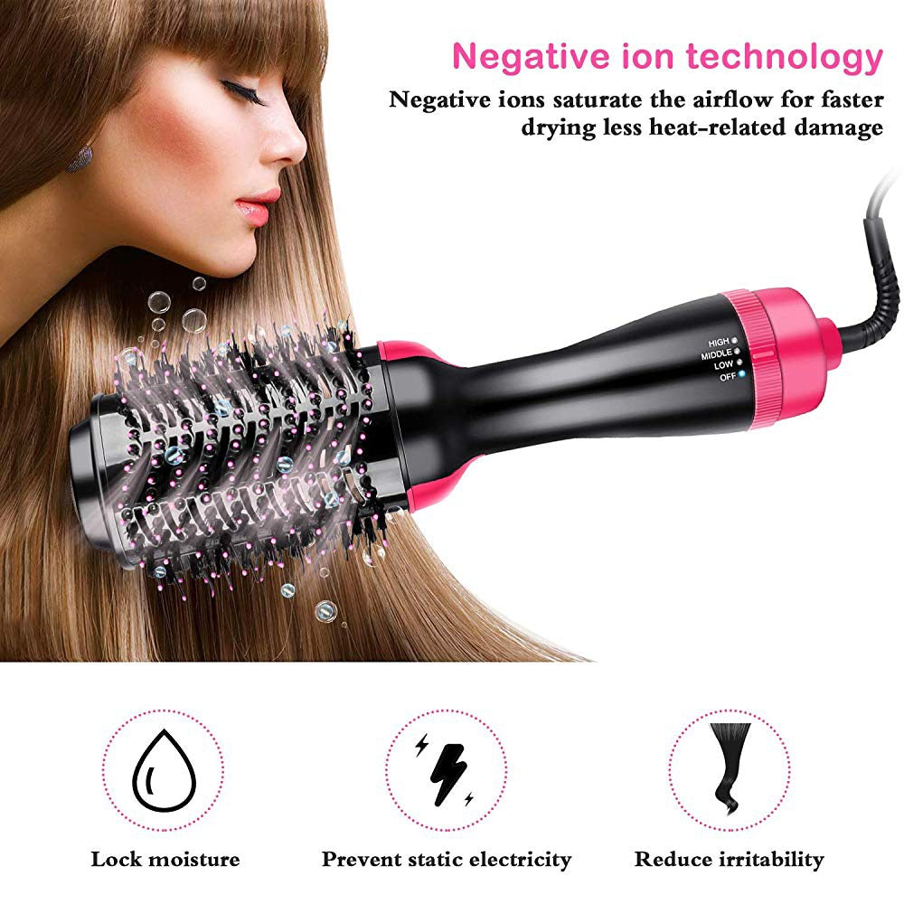 3 in 1 Hair Dryer Air Brush with Blow Dryer Comb Curling Iron Hair Straightener