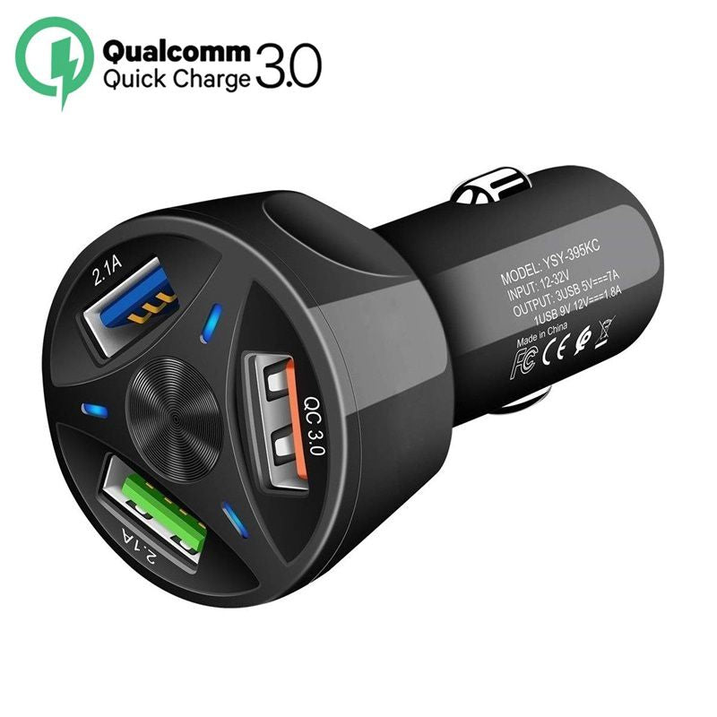 Quick Charge USB 3.0 Car Charger For Mobile Phones