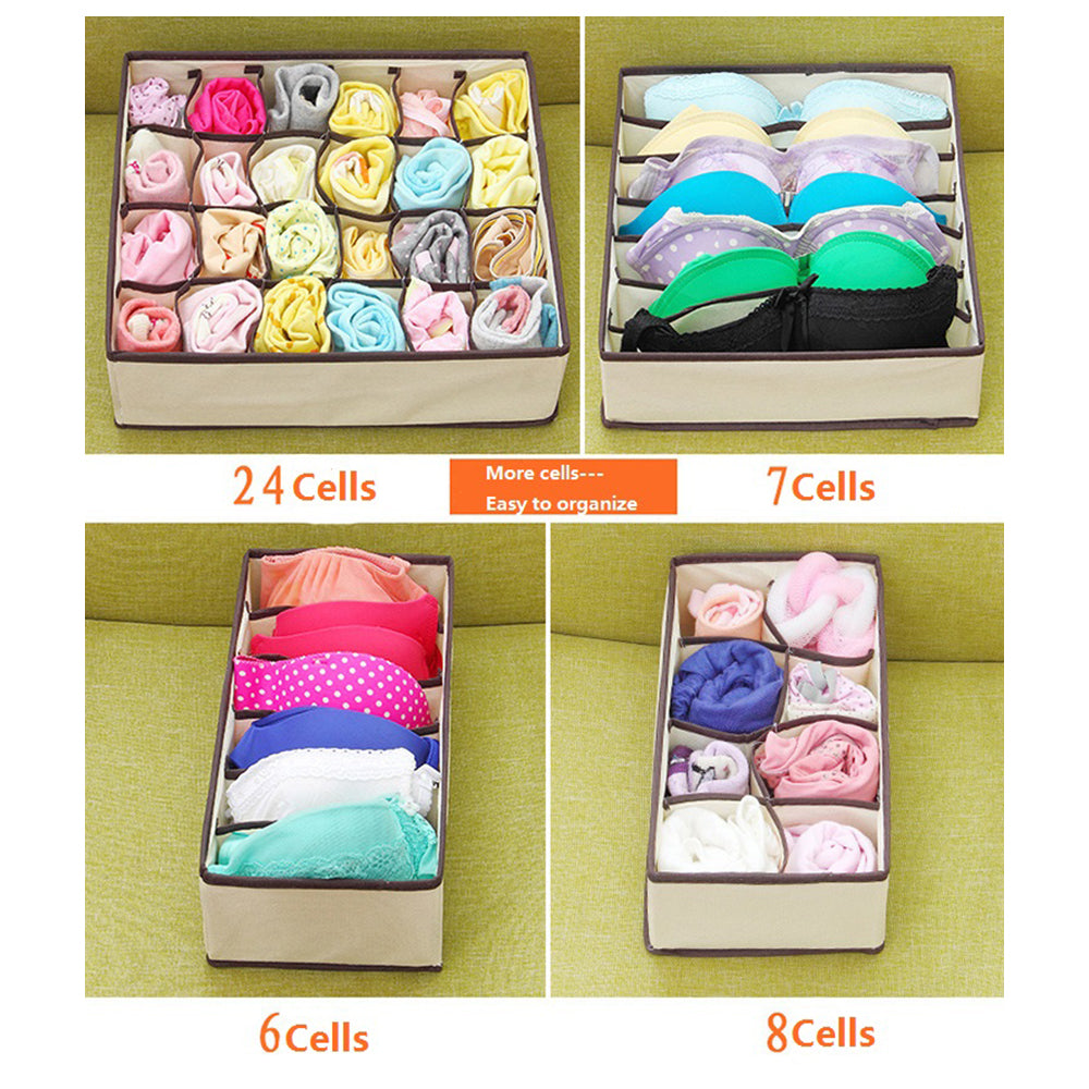 Folding Drawer Divider Bra Underwear Storage Box