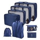 8Pcs/Set Solid Portable Travel Storage Bag