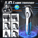 KEMEI Rechargeable Electric Hair Trimmers 11 in 1 Hair Clipper