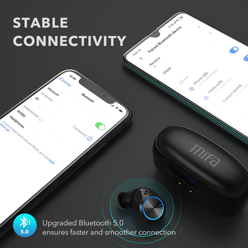Wireless Noise Cancelling Bluetooth Earphones