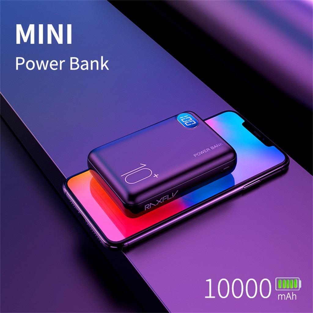 10000mAh LED Power Bank Dual USB Portable Charger