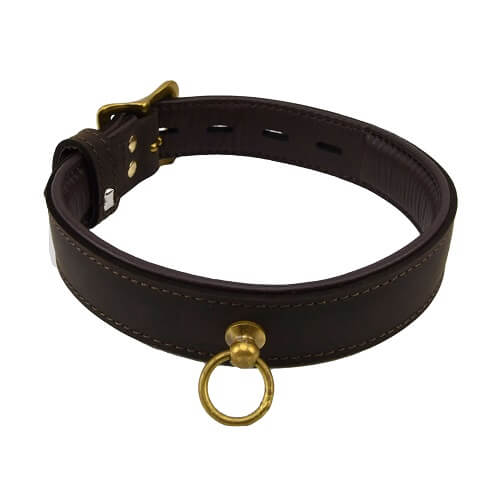 BOUND Nubuck Leather Choker with 'O' Ring - Lights Off